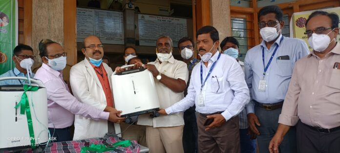 Donation of 10 Oxygen Concentrators to Bellary District