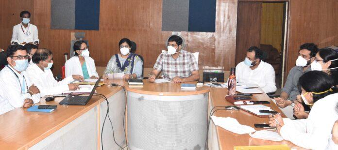 Ramachandran R Meeting on Bidar children corona infection