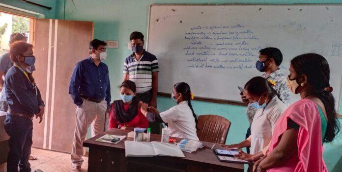College Vaccination session at VK international College Bidar