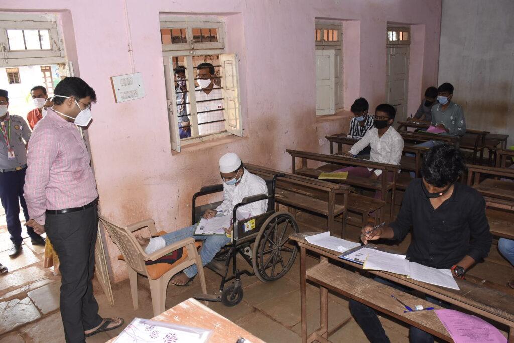 Student at Exam Center Ramchandra Bidar